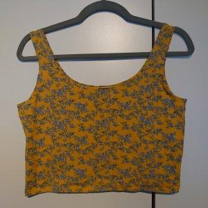 Crop Top mit Blumenprint Gelb/Blau