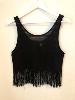 H&M Cropped top zwart