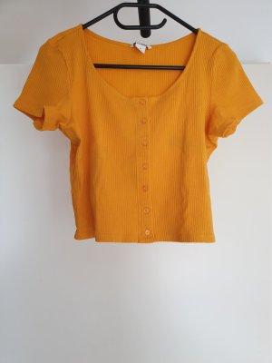 Monki Cropped top goud Oranje