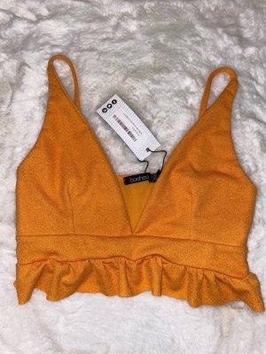 Boohoo Crop-top orange clair-orange