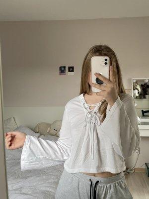 H&M Koszula o skróconym kroju biały