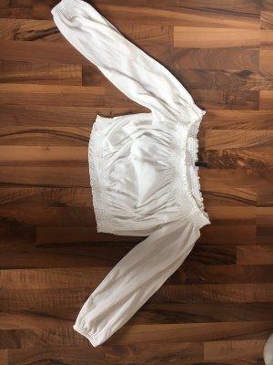 H&M Bluzka typu carmen biały-w kolorze białej wełny