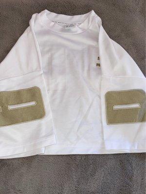 Puma T-shirt court blanc-doré