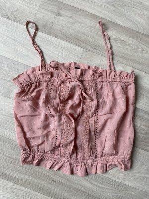 H&M Cropped Top pink-pink
