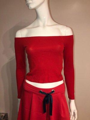 Blusa sin espalda rojo