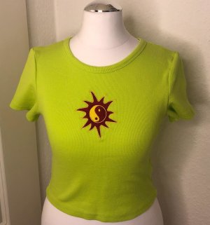 Crop TOP Shirt Grün