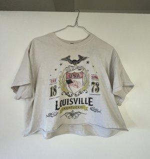 BGD Urban Outfitters T-shirt court blanc-noir