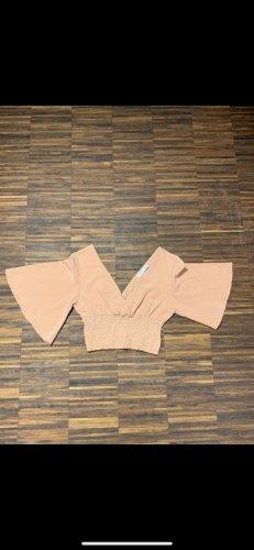 Pull & Bear Camicia cropped albicocca