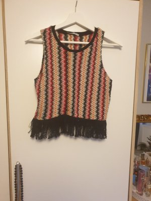 Trf by Zara Haut en crochet multicolore
