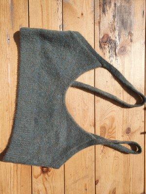 Zara Knitted Top green grey-khaki
