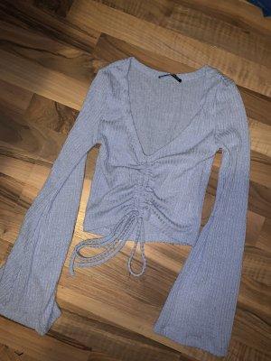 Sheinside T-shirt court bleu azur