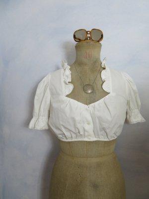 Wallmann Blusa tradizionale bianco Cotone