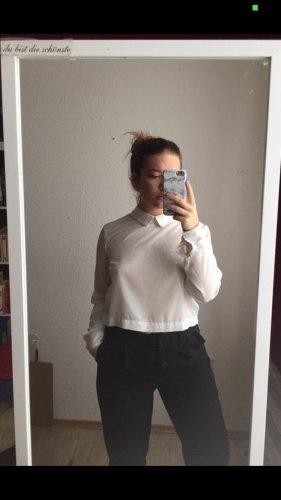 Croped Hemd mit Kragen