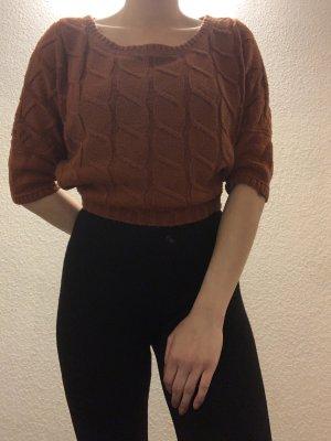 Zara Sweater met korte mouwen roodbruin