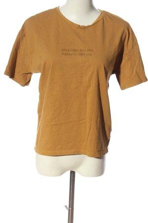 CROPP Print Shirt brown casual look