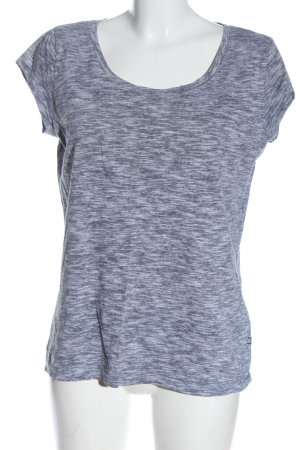 CROPP T-Shirt blau-weiß meliert Casual-Look