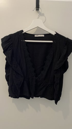 Pull & Bear Cropped top zwart-antraciet