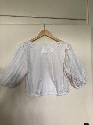 H&M T-shirt court blanc