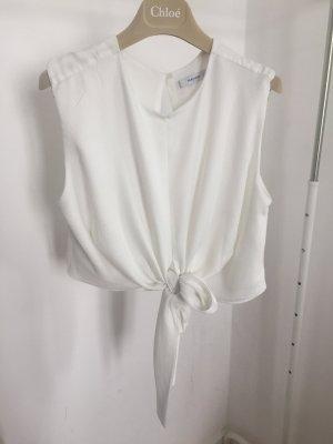 Mango Suit T-shirt court blanc