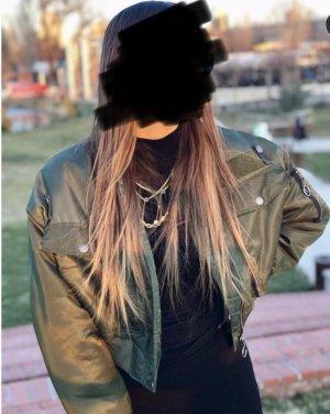 Zara Blouson aviateur vert foncé