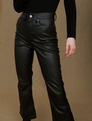 Cropped-Bootcut Lederhose von H&M in Gr.34