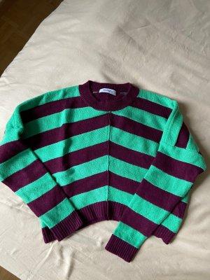 Max & Co. Pullover in cashmere verde-marrone-viola Cachemire