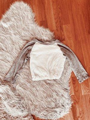Brandy & Melville T-shirt court blanc-gris clair