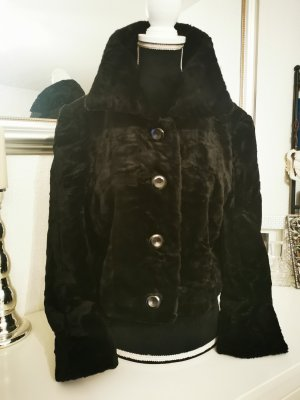 Giacca in eco pelliccia nero