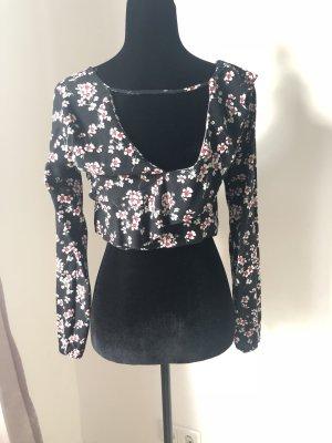 Cropped Flower Bluse von Zara