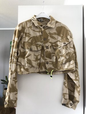 Cropped Hemdoberteil Camouflage Military Look