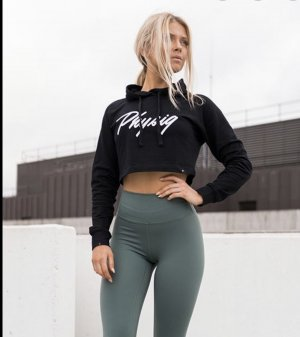 Physiq Apparel Sweatshirt met capuchon zwart-wit