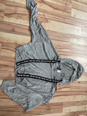 H&M Divided Sweat à capuche gris clair-noir