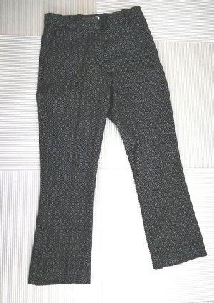 H&M Stretch Trousers black-silver-colored cotton