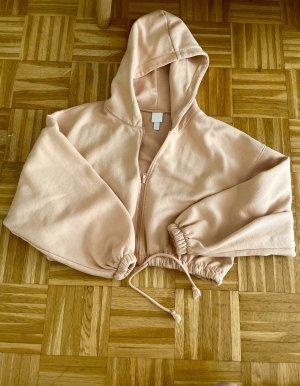 H&M Veste sweat abricot