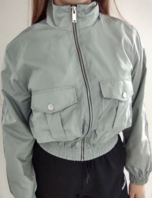 Cropped Jacke mintgrün silber Tally Weijl Gr.L / N , Neu