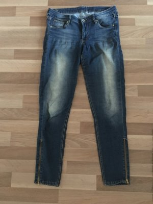 Cropped Jeans Slim Fit von H&M Gr.42