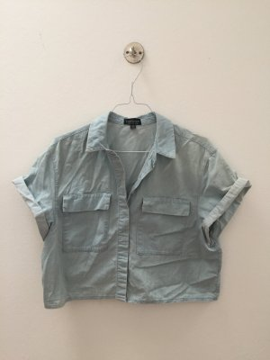 Cropped Jeansbluse