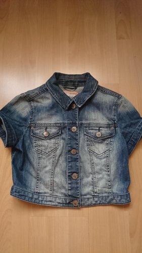 Cropped Jeansjacke mit kurzem Arm von Esprit