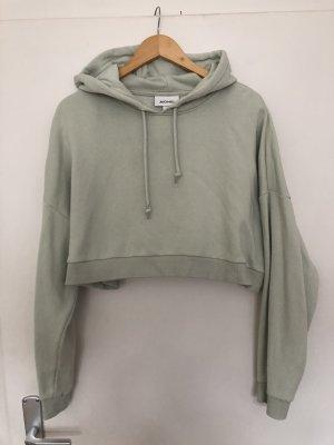 Monki Felpa con cappuccio menta-verde-grigio