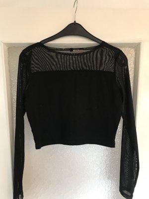 HM Cropped Shirt black