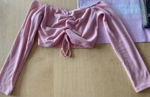 LASULA Cropped Shirt pink