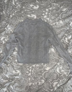 Stradivarius Cropped Shirt silver-colored
