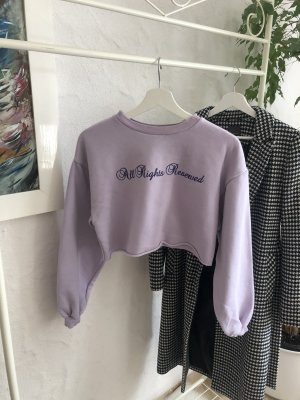 Cropped Lila Pullover + Gratis Scrunchie