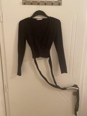Cropped Longarmshirt mit Bändern