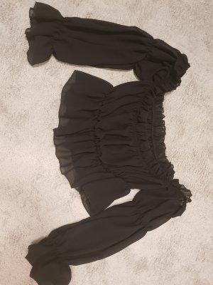 SheIn Cropped Shirt black