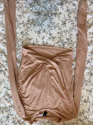H&M Basic Cropped shirt stoffig roze