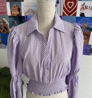 Zara Blouse à carreaux violet