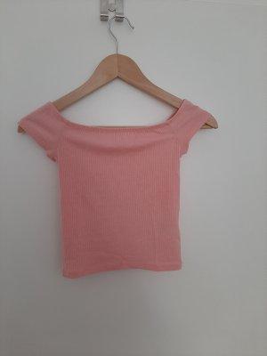 H&M Koszula o skróconym kroju brzoskwiniowy