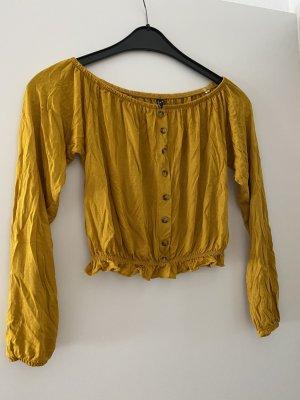 Sublevel T-shirt court jaune foncé viscose