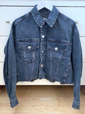 Cropped/Oversize Jeansjacke von ZARA